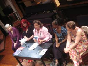 Picture from Women in Theatre discussion showing speakers